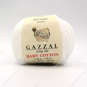 Пряжа Gazzal Baby Cotton белый 3432