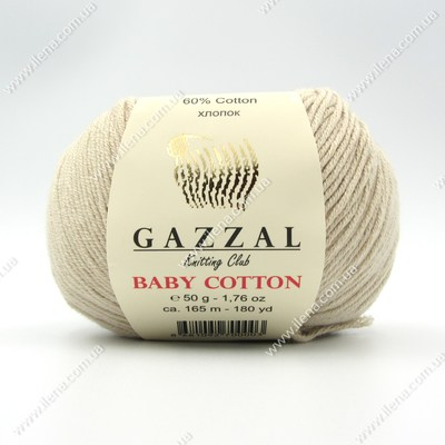 Пряжа Gazzal Baby Cotton лен 3446