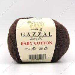 Пряжа Gazzal Baby Cotton шоколад 3436