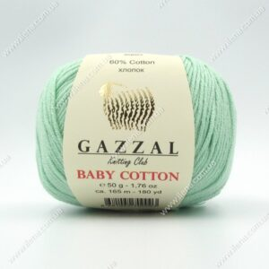 Пряжа Gazzal Baby Cotton мята 3425