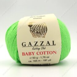 Пряжа Gazzal Baby Cotton салатовый 3427