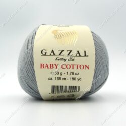 Пряжа Gazzal Baby Cotton серый 3430