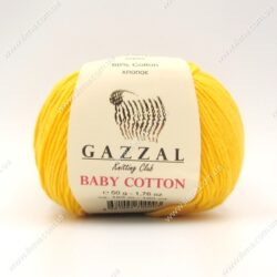 Пряжа Gazzal Baby Cotton жёлтый 3417