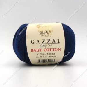 Пряжа Gazzal Baby Cotton темно-синий 3438