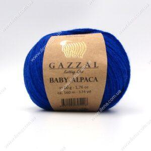 Пряжа Gazzal Baby Alpaca синий 46010