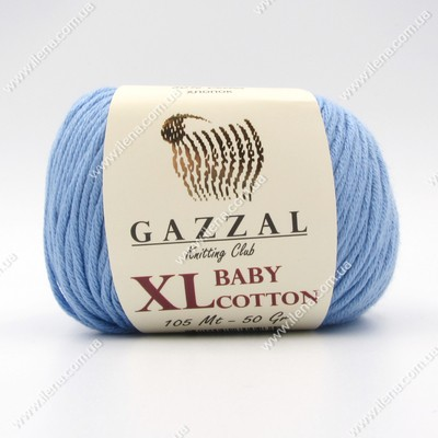 Пряжа Gazzal Baby Cotton XL голубой 3423XL