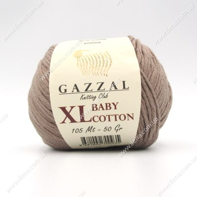 Пряжа Gazzal Baby Cotton XL мокко 3434XL