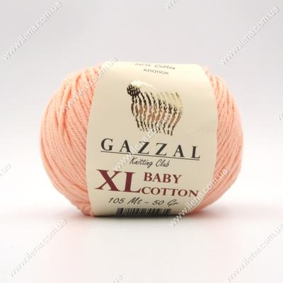 Пряжа Gazzal Baby Cotton XL персик 3412XL