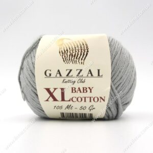 Пряжа Gazzal Baby Cotton XL серый 3430XL