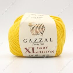 Пряжа Gazzal Baby Cotton XL желтый 3417XL