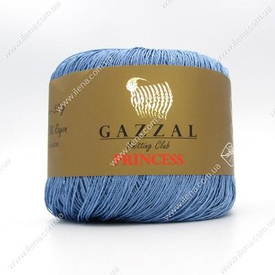 Пряжа Gazzal PRINCESS голубой джинс 3008
