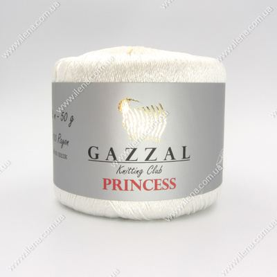 Пряжа Gazzal PRINCESS белый 3009