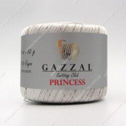 Пряжа Gazzal PRINCESS серебро 3017