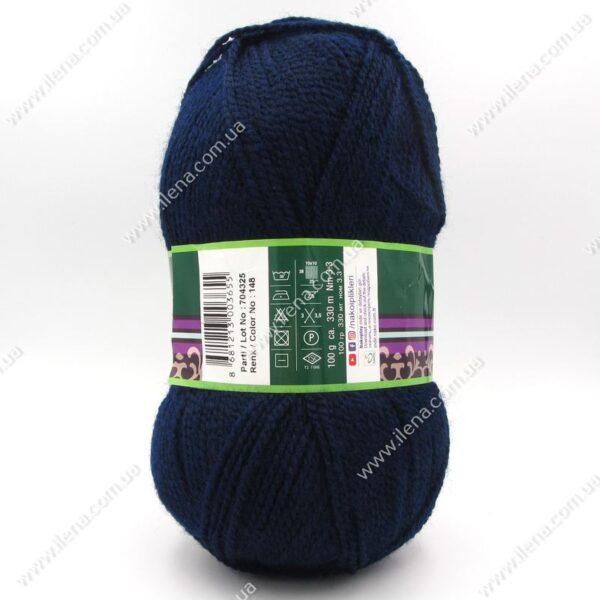 Пряжа Nako Astra темно-синий 148