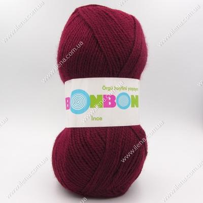 Пряжа Nako Bonbon Ince бордо 98220