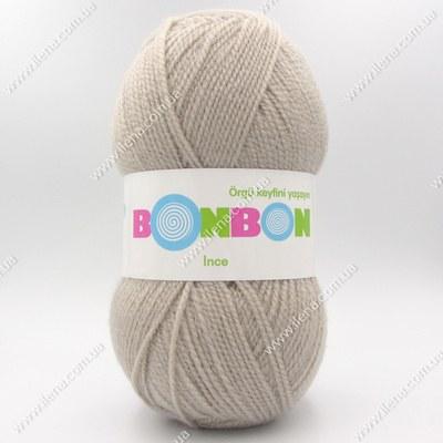 Пряжа Nako Bonbon Ince серо-бежевый 98330