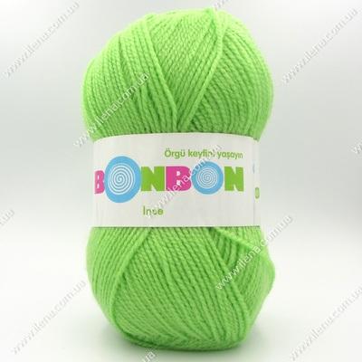 Пряжа Nako Bonbon Ince салатовый 98401