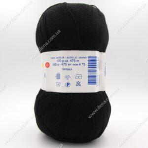 Пряжа Nako Bonbon Kristal черный 98206