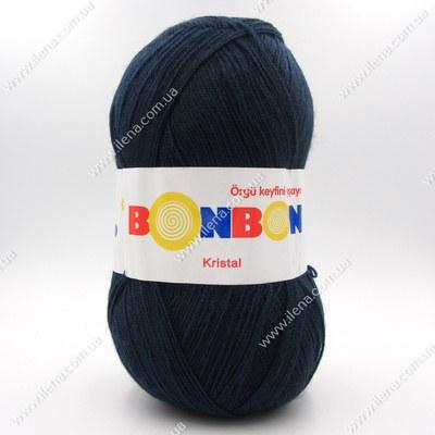 Пряжа Nako Bonbon Kristal темно-синий 98207