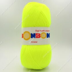 Пряжа Nako Bonbon Kristal неоновый желтый 98397