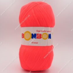 Пряжа Nako Bonbon Kristal неоновый коралл 98398
