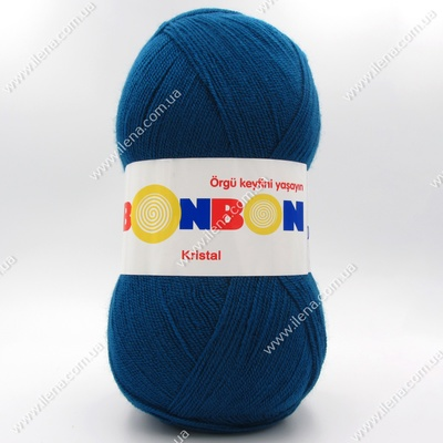 Пряжа Nako Bonbon Kristal темная голубая бирюза 98400