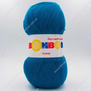 Пряжа Nako Bonbon Kristal темно-голубая бирюза 98685