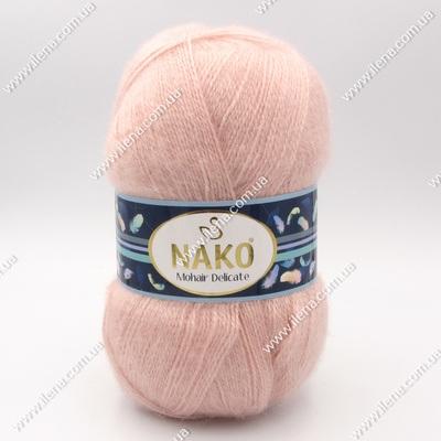 Пряжа Nako Mohair Delicate пудра 1479