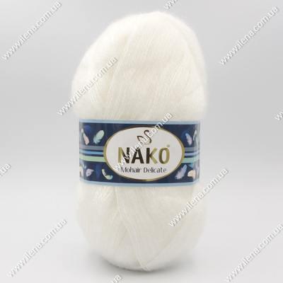 Пряжа Nako Mohair Delicate белый 6101