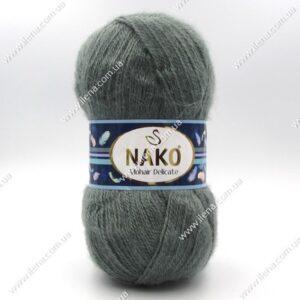 Пряжа Nako Mohair Delicate серо-зеленый 6129