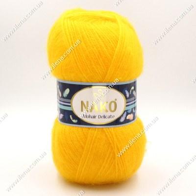 Пряжа Nako Mohair Delicate желтый 6142