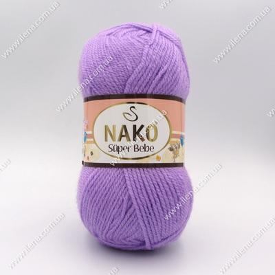 Пряжа Nako Super Bebe сиреневый 1036