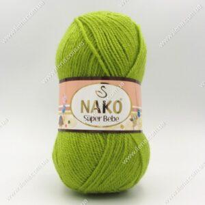 Пряжа Nako Super Bebe зеленый 3330