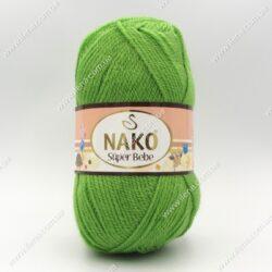 Пряжа Nako Super Bebe зеленый 3421
