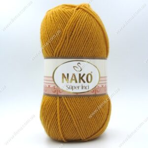 Пряжа Nako Super inci горчичный 10129