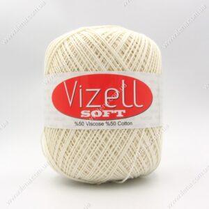 Пряжа Vizell Soft молочный 025