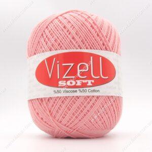 Пряжа Vizell Soft персик 209