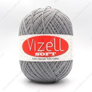 Пряжа Vizell Soft серый 702