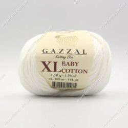 Пряжа Gazzal Baby Cotton XL молочный 3410XL