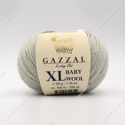 Пряжа Gazzal Baby Wool XL светло-серый 817XL