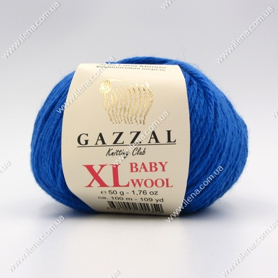 Пряжа Gazzal Baby Wool XL синий 830XL