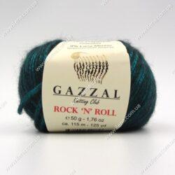 Пряжа Gazzal Rock 'N' Roll зеленый изумруд 12834