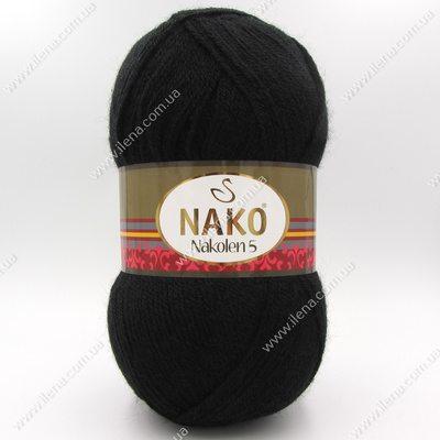 Пряжа Nako Nakolen 5 черный 217