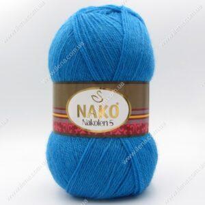 Пряжа Nako Nakolen 5 голубая бирюза 5052