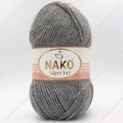 Пряжа Nako Super inci серый 194