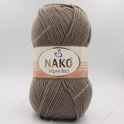 Пряжа Nako Super inci серо-коричневый 2000