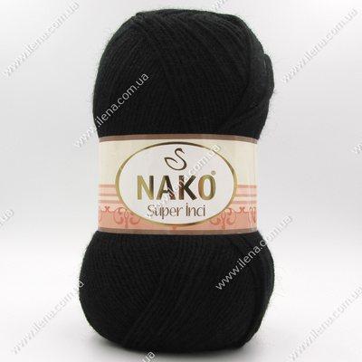 Пряжа Nako Super inci черный 217