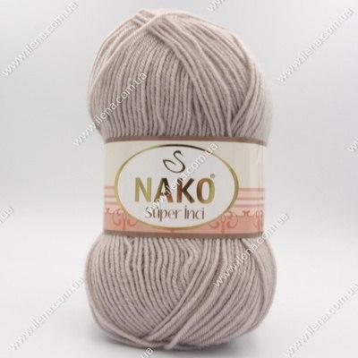 Пряжа Nako Super inci серо-бежевый 3079