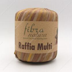 Пряжа Fibranatura Raffia Multi желто-коричневый 117-04