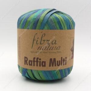 Пряжа Fibranatura Raffia Multi сине-зеленый 117-05
